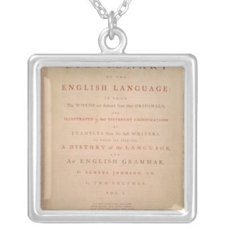 Title page of volume I of the English Silver Plated Necklace