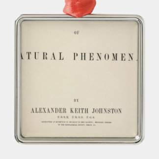 Title Page Physical atlas of natural phenomena Silver-Colored Square Decoration