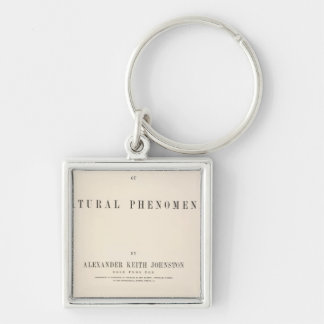 Title Page Physical atlas of natural phenomena Silver-Colored Square Key Ring