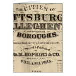 Title Page Pittsburgh, Allegheny atlas Greeting Card