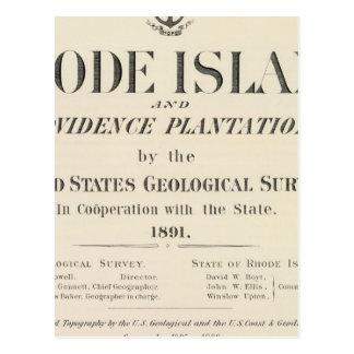 Title Page Rhode Island atlas Postcard
