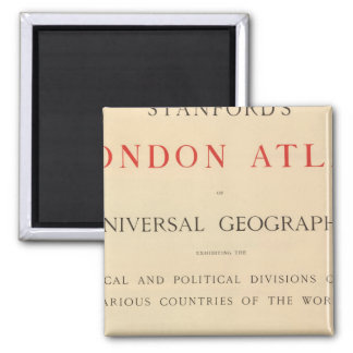 Title Page Stanford's London atlas Square Magnet
