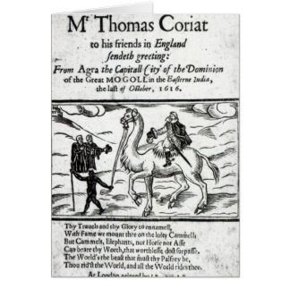 Title page, Thomas Coryat's travles in India Card