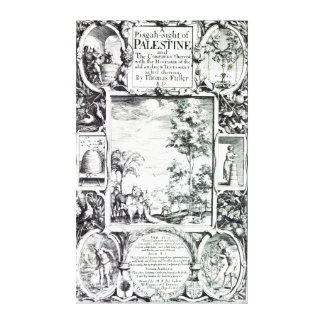 Title-page to 'A Pisgah-sight of Palestine' Canvas Print