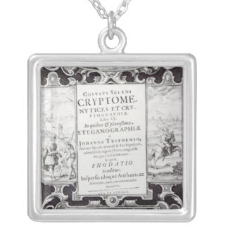 Title Page to Book 9 Silver Plated Necklace