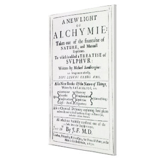 Title page to the English edition Stretched Canvas Print