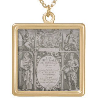 Title page to the second edition of 'The Herball' Square Pendant Necklace