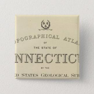 Title Page Topo atlas Connecticut 15 Cm Square Badge