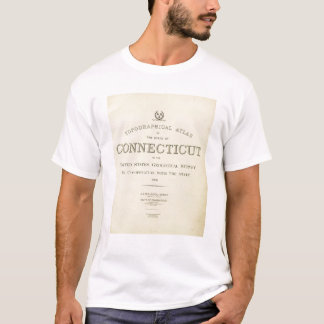 Title Page Topo atlas Connecticut T-Shirt