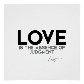 Title: QUOTES: Dalai Lama - Love, judgment Poster
