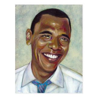 Titled:  Barack Obama - unique portrait Postcard