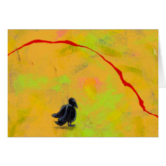 Titled:  Contemplating My Mortality - crow raven Card