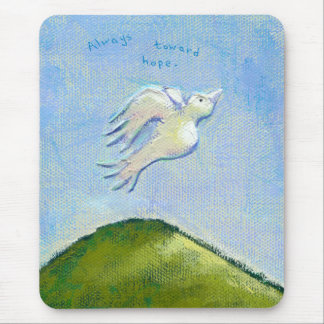 Titled:  Determination - dove in flight Mouse Pad