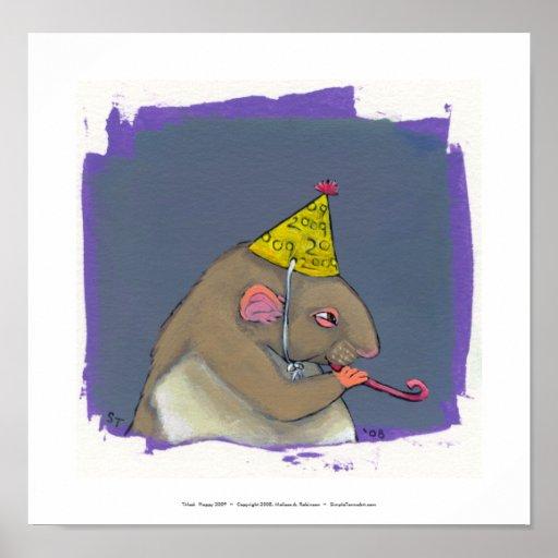 Titled:  Happy 2009  ~  Fun New Years Art Print