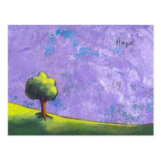 Titled: Hopeful Light - Inspiration CUSTOMIZED art Postcard