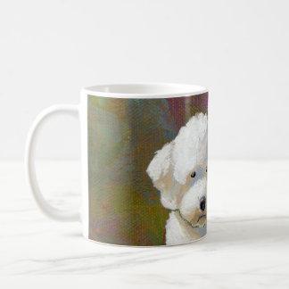 Titled: I'm Thinking About It - adorable white dog Mugs