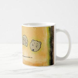Titled: My Bears & Me - Don't provoke us bear ART Classic White Coffee Mug