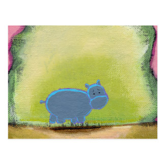 Titled:  My Hippo Knows Postcard