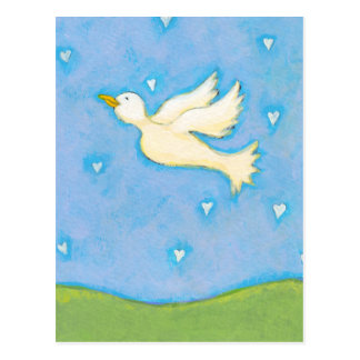 Titled:  Peace and Love - Dove bird PERSONALIZE IT Postcard