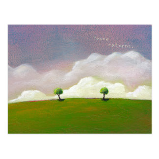 Titled: Peace Returns - Beautiful quiet landscape Postcard