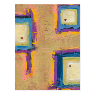 Titled:  Seeing Love - fun unique artist designed Postcard