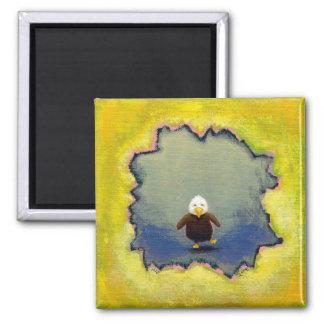 Titled:  Self Portrait  -  Baby bald eagle Refrigerator Magnets