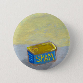 Titled: Spam and Eggs - fun breakfast art chicken 6 Cm Round Badge
