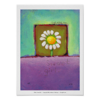 Titled: Sweet Girl - flower caring protect them Poster