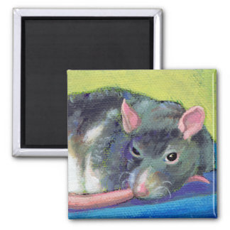 Titled:  The Guardian - Beautiful smart pet rat Refrigerator Magnets