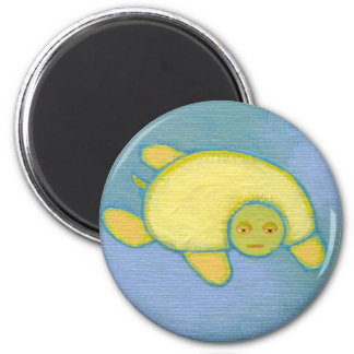 Titled:  Turtles Have Trust Issues - fun art stuff Magnet