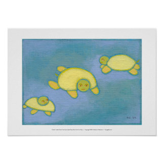 Titled:  Turtles Have Trust Issues - fun art stuff Poster