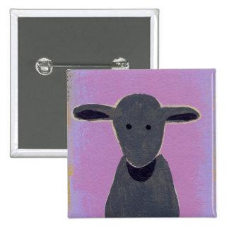 Titled:  White Sheep, Gray Sheep, Black Sheep 15 Cm Square Badge
