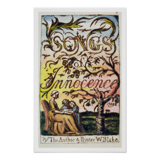 Titlepage from 'Songs of Innocence and of Experien Poster