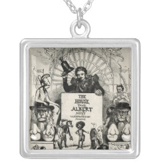Titlepage from 'The House that Albert Built' Silver Plated Necklace