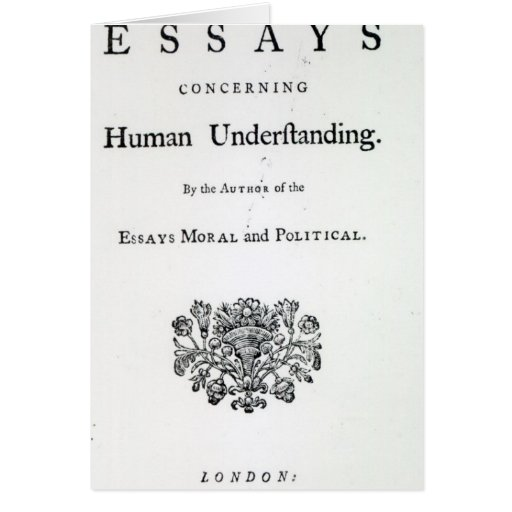 Titlepage of 'Philosophical Essays Cards