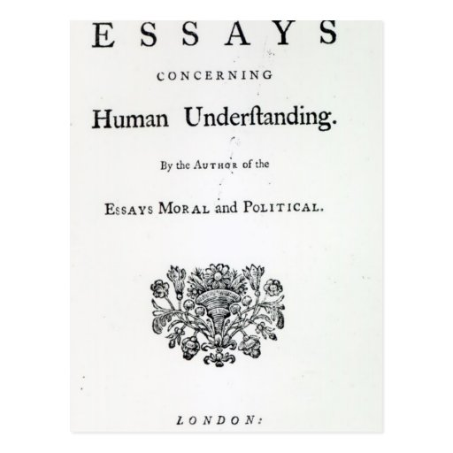Titlepage of 'Philosophical Essays Post Cards