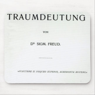Titlepage to Die Traumdeutung by Sigmund Freud Mouse Mat
