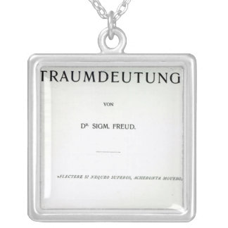 Titlepage to Die Traumdeutung by Sigmund Freud Silver Plated Necklace