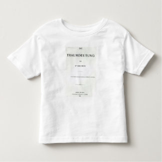 Titlepage to Die Traumdeutung by Sigmund Freud Toddler T-Shirt
