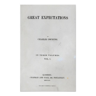 Titlepage to Great Expectations by Charles Poster