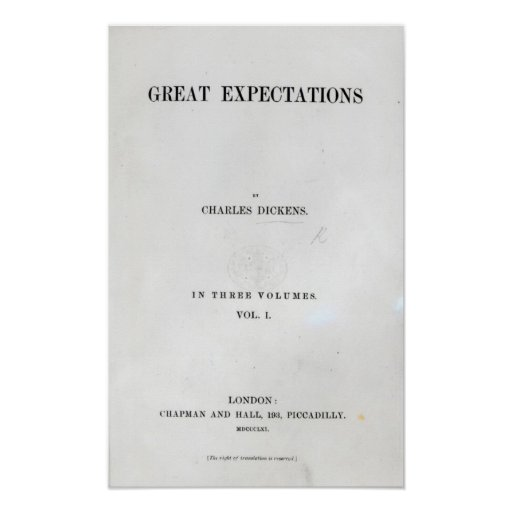 Titlepage to Great Expectations by Charles Print