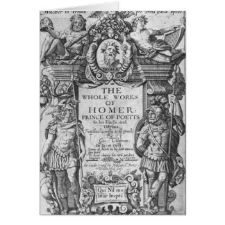 Titlepage to 'The Whole Works of Homer' Card