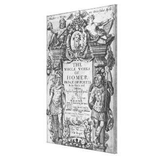 Titlepage to 'The Whole Works of Homer' Gallery Wrapped Canvas