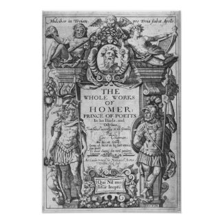 Titlepage to 'The Whole Works of Homer' Poster