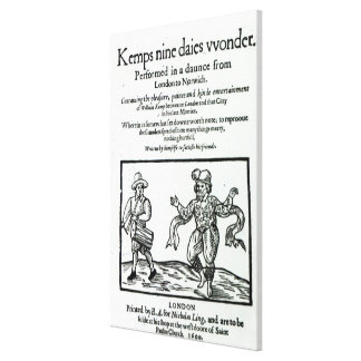 Titlepage to William Kemp's Canvas Print