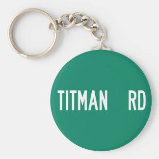 Titman Road, Street Sign, New Jersey, US Key Chain