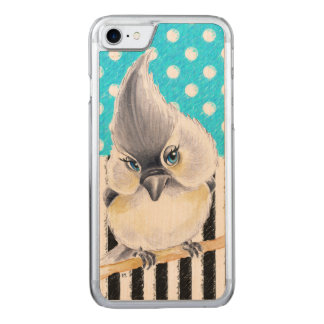 Titmouse Blue Polka Dot Carved iPhone 8/7 Case