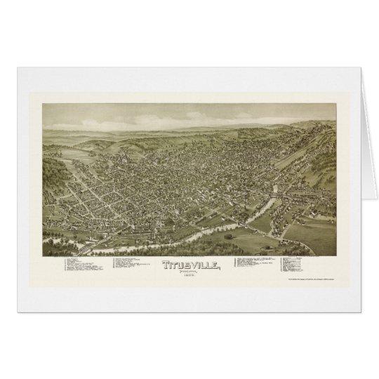 Titusville, PA Panoramic Map - 1895 Card