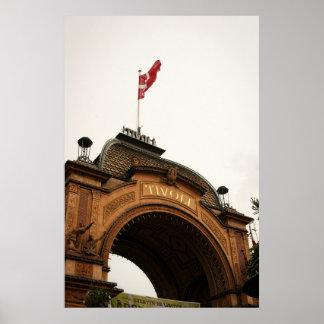 Tivoli Gardens Gate Copenhagen Denmark Poster
