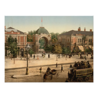 Tivoli Park Entrance Copenhagen Denmark Poster
